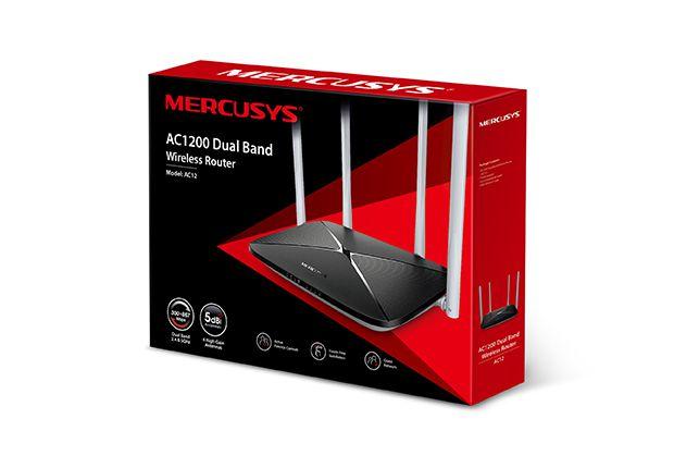 Roteador Mercusys Wireless AC1200 ac12 dual band 4antenas