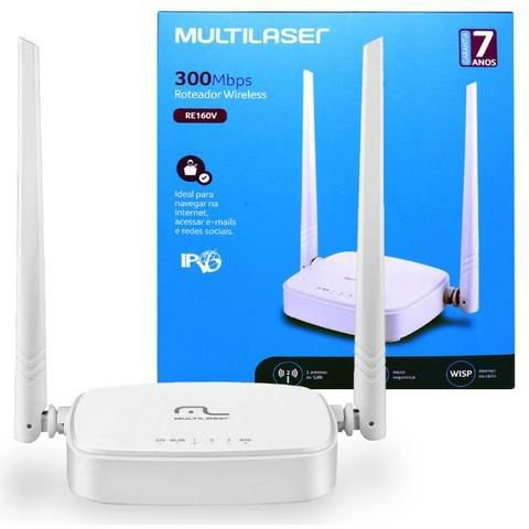 Roteador Wireless 300Mbps Multilaser re160v