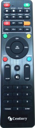 Controle Remoto para Receptor Century Midia Box hdtv b3 B4 B4+