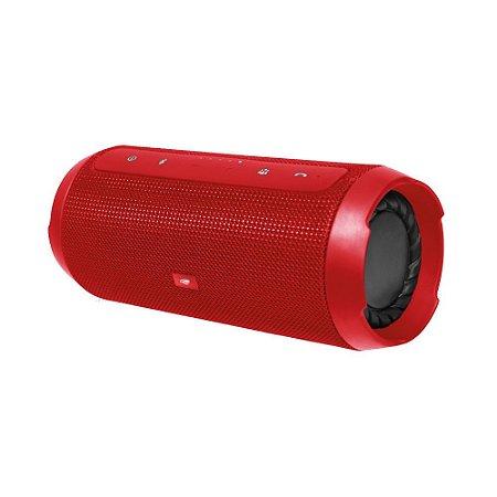 Caixa de Som C3Tech Speaker Bluetooth+EDR Função Power Bank, Handsfree, USB, FM, TF Card Vermelha - SP-B150GR