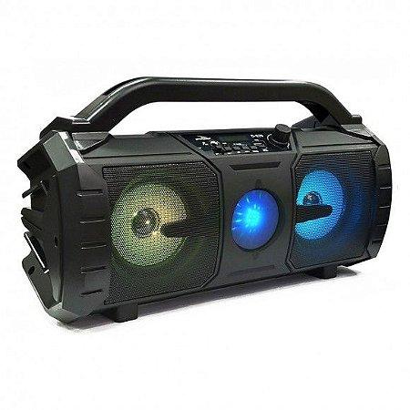 CAIXA DE SOM GRASEP BLUETOOTH MODELO D-S29 - FM INTEGRADO - ENTRADA USB E MICRO SD - SOM HI-FI - DISPLAY LED - 20W RMS