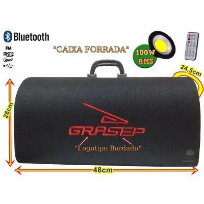 Caixa de som baú bluetooth 100w portátil fm usb micro sd