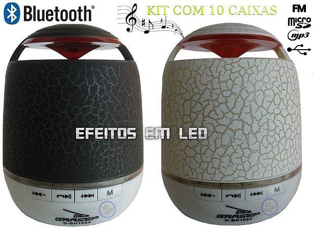 Caixas de som radio bluetooth fm usb micro sd led