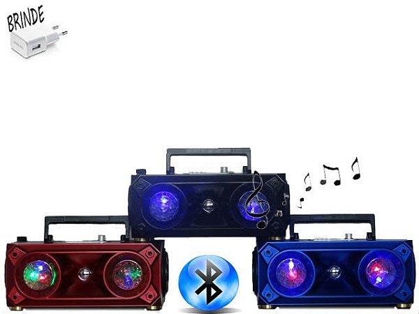 Caixa de som com bluetooth/saída para microfone