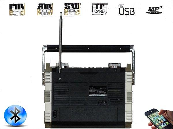 Rádio Portátil Bluethoot/am/fm/usb 8w Rms D-f 5 Grasep