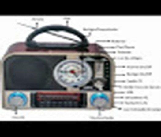 Radio Am Fm Sw Com Despertador Relogio Bateria Bluetooth Usb D F 8