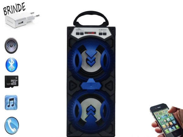 Radio Portatil Bluetooth/usb Azul