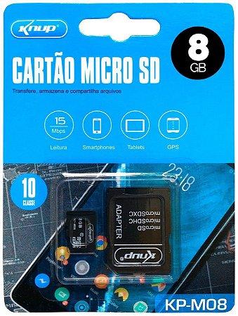 CARTÃO DE MEMÓRIA KNUP / LEBOSS MODELO KP-M08 8GB HIGH SPEED