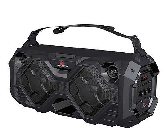 Caixa De Som Grasep Modelo D-k03 Bluetooth - 40W Rms C/ Microfone Sem Fio e Controle - Alça - Cabo P2