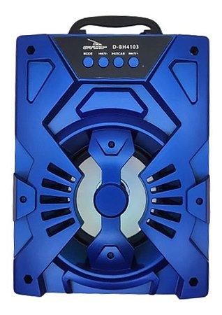 CAIXA DE SOM GRASEP MODELO D-BH4103 BLUETOOTH - SOM HI-FI DE QUALIDADE - RÁDIO FM INTEGRADO - EM MADEIRA MDF - DISPLAY LED - 10W RMS