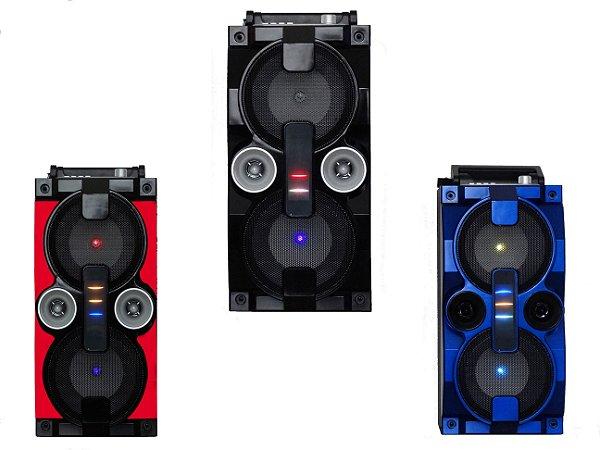 CAIXA DE SOM GRASEP MODELO D-BH2807 BLUETOOTH - DISPLAY LED - ENTRADA USB / MICRO SD - SOM HIFI - RÁDIO FM INTEGRADO - CONEXÃO P/ MIC - 20W RMS
