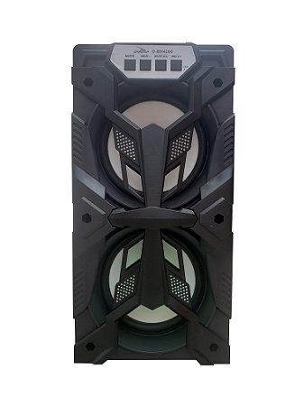 CAIXA DE SOM GRASEP D-BH4206 BLUETOOTH - ENTRADA USB E MICRO SD - RÁDIO FM INTEGRADO - SOM HI-FI DE QUALIDADE - 10W RMS