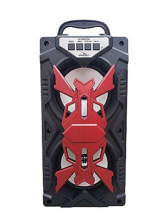 CAIXA DE SOM GRASEP D-BH4204 BLUETOOTH - ENTRADA USB E MICRO SD - RÁDIO FM INTEGRADO - SOM HI-FI DE QUALIDADE - 10W RMS
