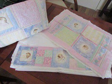 Jogo de lençol 100% tricoline com tecido importado