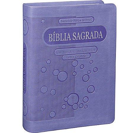 Bíblia Sagrada Letra Maior - NTLH - Lilás