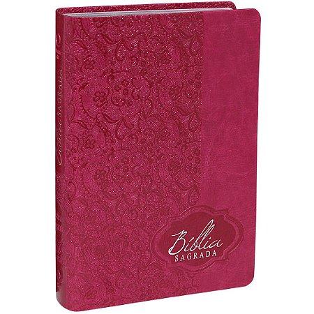 Bíblia Sagrada Letra Gigante - RA - Pink Alpha