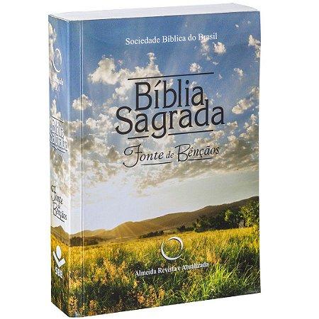BÍBLIA SAGRADA LETRA MAIOR COM FONTE DE BÊNÇÃOS - RA