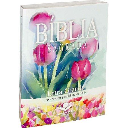 Bíblia Sagrada - Letra Grande - RA - Brochura - Flores