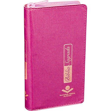 Bíblia Carteira |Zíper | RA - Rosa