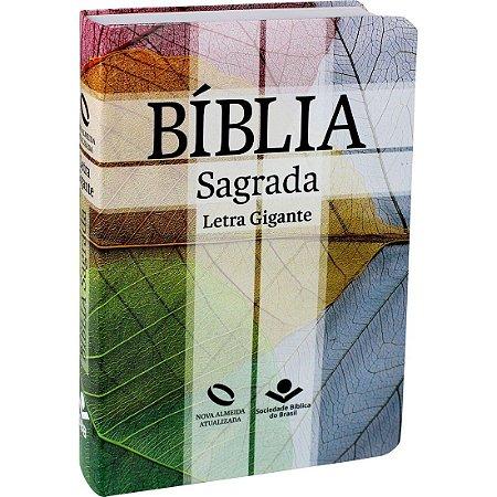 Bíblia Sagrada Letra Gigante - Nova Almeida Atualizada - Cruz
