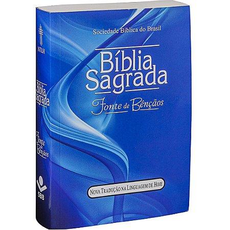 Bíblia Sagrada Letra Maior com Fonte de Bênçãos - NTLH