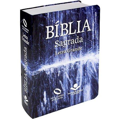 Bíblia Sagrada Letra Grande - Nova Almeida Atualizada - Água