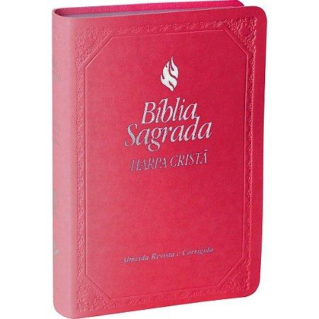 Bíblia Sagrada Letra Maior com Fonte de Bênçãos e Harpa Cristã - RC