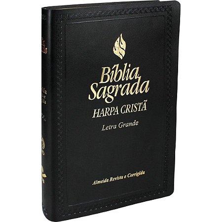 Bíblia Sagrada Letra Grande com Harpa Cristã - Preta