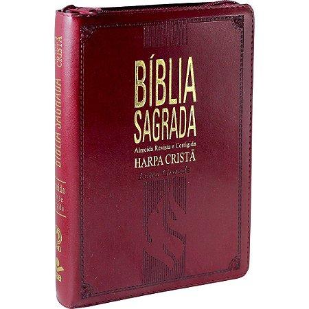 Bíblia Sagrada Letra Grande com Harpa Cristã Almeida Revista e Corrigida