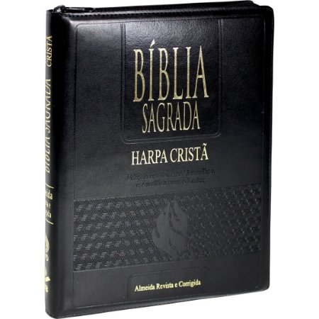 Bíblia Sagrada Letra Extragigante com Harpa Cristã - Preta