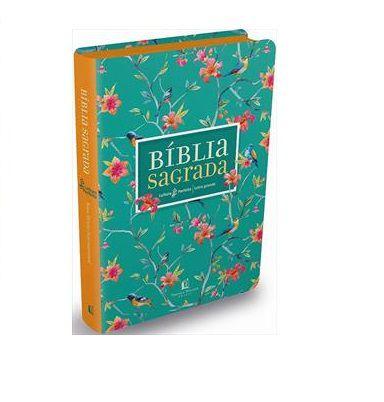 Bíblia Sagrada | Leitura Perfeita | NVI | Letra Grande | Capa Flores | Couro Soft