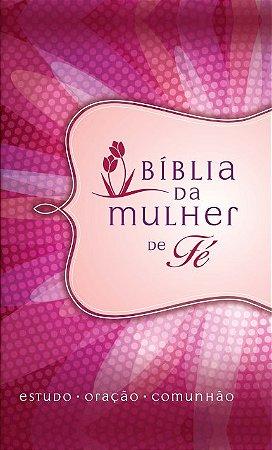 Bíblia De Estudo Da Mulher De Fé | NVI | Média | Margarida