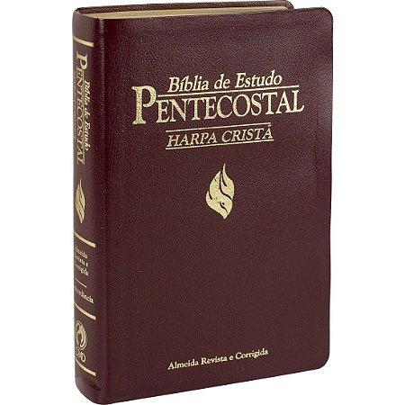 Bíblia de Estudo Pentecostal com Harpa Cristã - Média - Vinho
