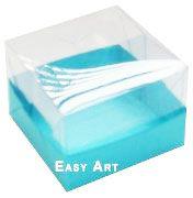 Caixinha para Trufas e Amêndoas - Azul Tiffany