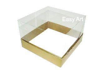 Caixinhas para Mini Bolos - 15x15x10 / Dourado Brilhante