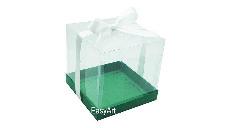 Caixinhas para Mini Bolos 8x8x8 - Verde Bandeira