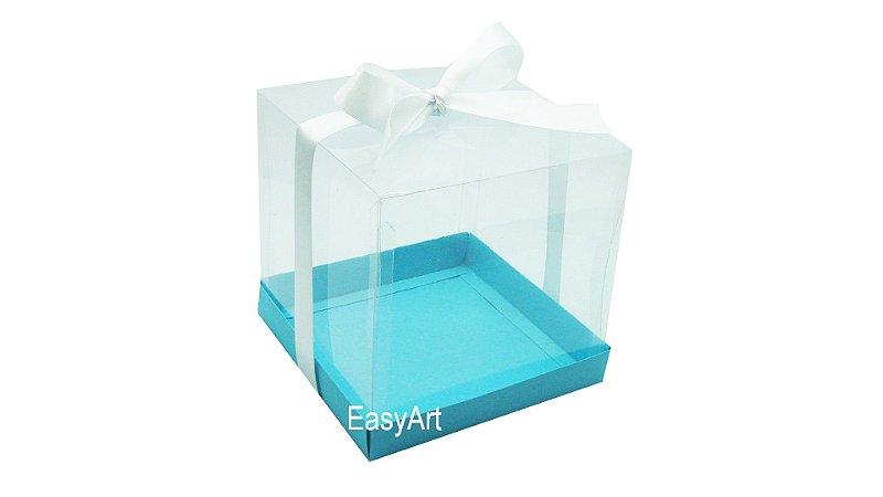 Caixinhas para Mini Bolos 8x8x8 - Azul Tiffany