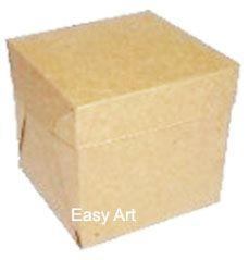 Caixinhas para Mini Bolos 6x6x6 - Kraft