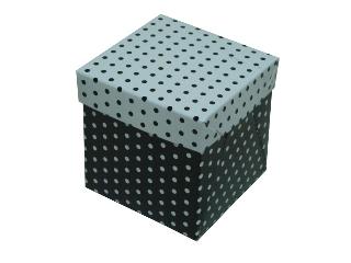 Caixinhas Estampadas com Bolinhas  - 8x8x8
