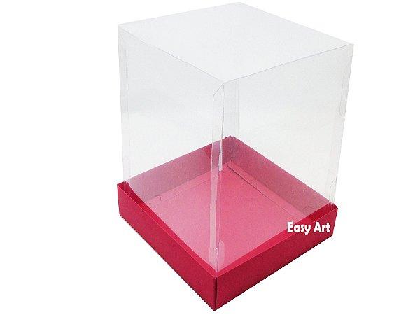 Caixinhas para Mini Bolos / Mini Panetones 10x10x10 - Vermelho