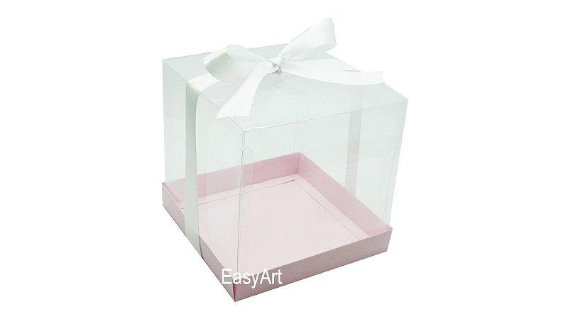 Caixinha para Mini Bolos - Rosa Claro