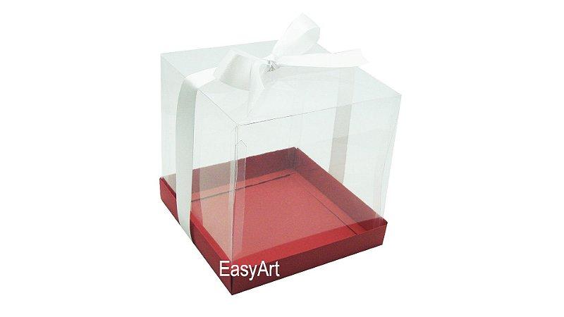 Caixinha para Mini Bolos 7,5x7,5x7,5 - Vermelho