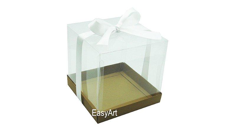 Caixinha para Mini Bolos - Marrom Claro