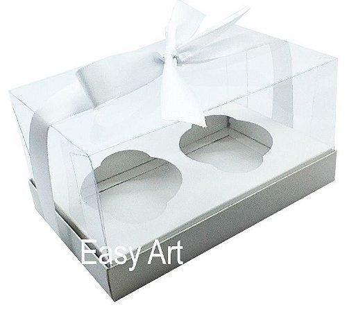 Caixas para 02 Cupcakes - Branco
