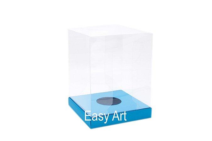 Caixa para Ovos de Páscoa de Pé - Azul Turquesa
