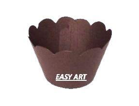 Wrapper para Cupcakes - Marrom Chocolate