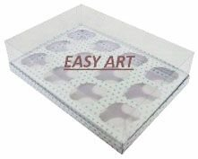 Caixas para 12 Mini Cupcakes 23,5x16,8x6 - Pct com 10 Unidades