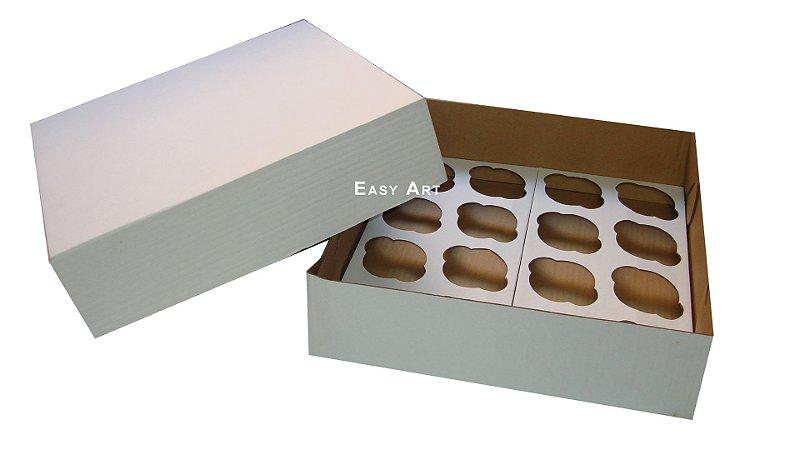Caixas para Transporte de Cupcakes - 35x35x10