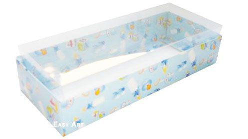 Caixa para 15 Brigadeiros - Estampado Bebê Azul