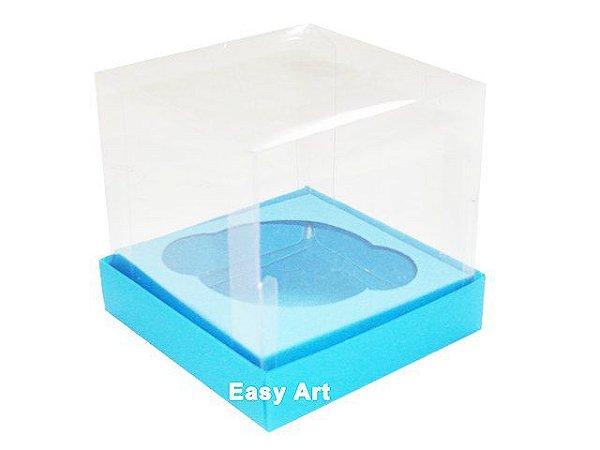 Caixas para 1 Mini Cupcake - Azul Turquesa